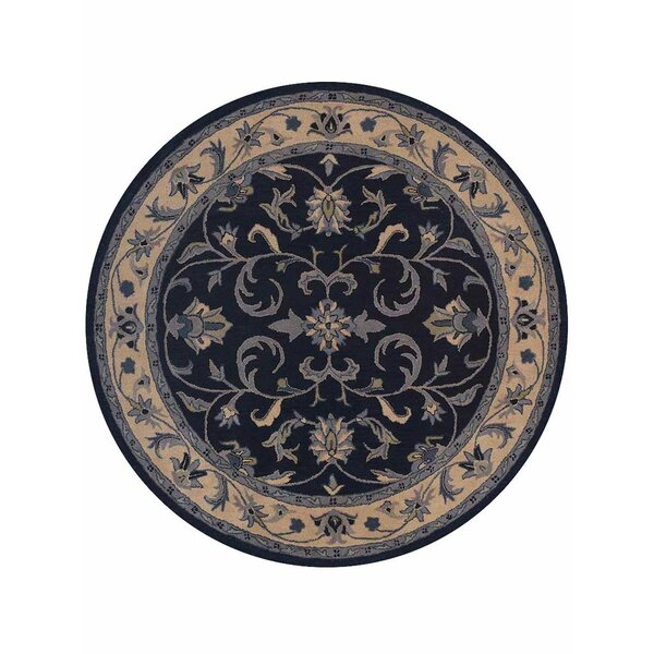 Minor Hand-Tufted Wool Blue/Beige Area Rug by Darby Home Co