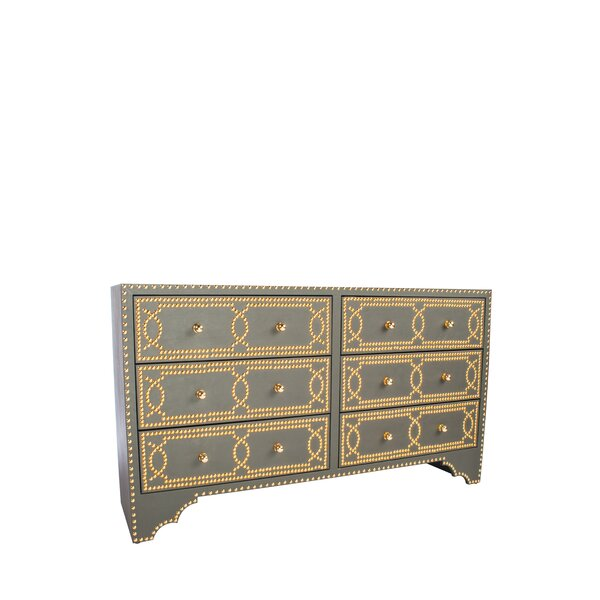Marla 6 Drawer Double Dresser by House of Hampton