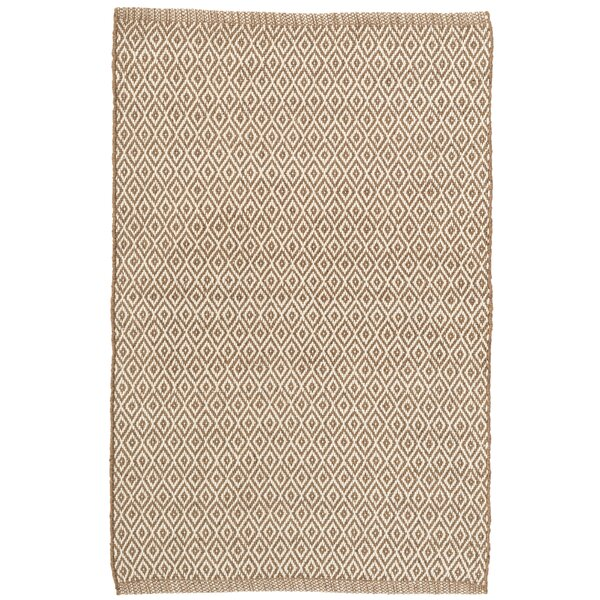 Crystal Brown/White Indoor/Outdoor Area Rug by Dash and Albert Rugs