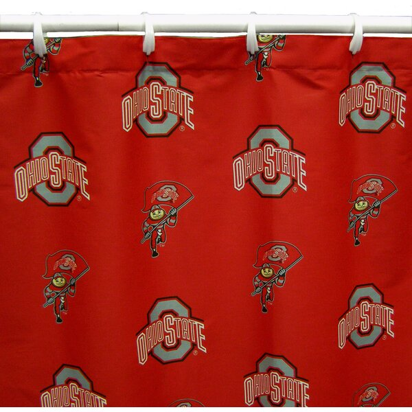 NCAA Ohio State Cotton Printed Shower Curtain by College Covers