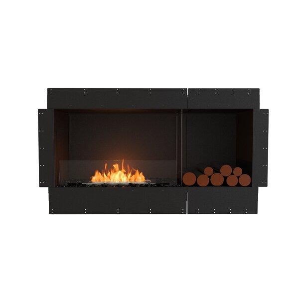 Flex Single Sided Recessed Wall Mounted Bio-Ethanol Fireplace by EcoSmart Fire