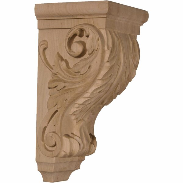 Acanthus 10H x 5W x 5D Medium Wood Corbel in Red Oak by Ekena Millwork