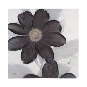 Midnight Bloom Painting Print on Canvas by Andover Mills