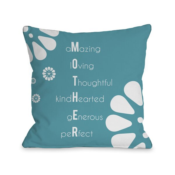 Mother Definition Throw Pillow by One Bella Casa