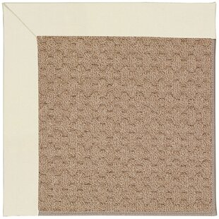 Zoe Grassy Mountain Machine Tufted Alabaster/Brown Indoor/Outdoor Area Rug