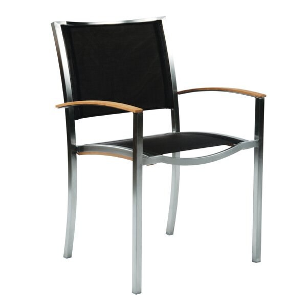 Tiburon Stacking Teak Patio Dining Chair (Set of 2) by Kingsley Bate