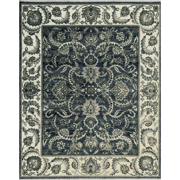 One-of-a-Kind Hadwoven Wool Green/Beige Indoor Area Rug by Bokara Rug Co., Inc.