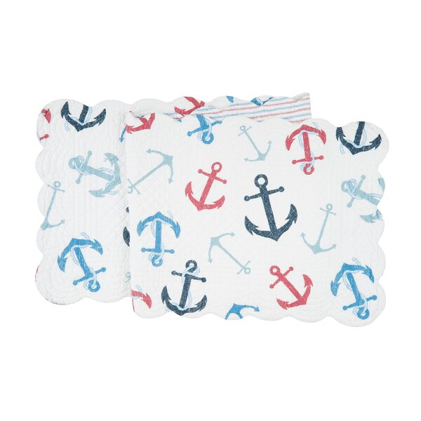 Croce Anchors Table Runner by Breakwater Bay