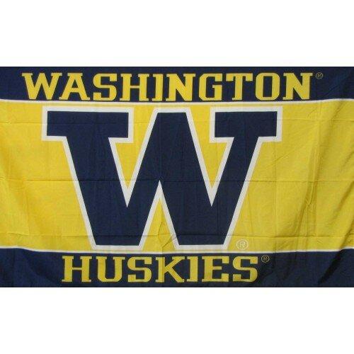 Washington Huskies Polyester 3 x 5 ft. Flag by NeoPlex