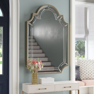 Willa Arlo Interiors Arch/Crowned Top Champagne Wall Mirror