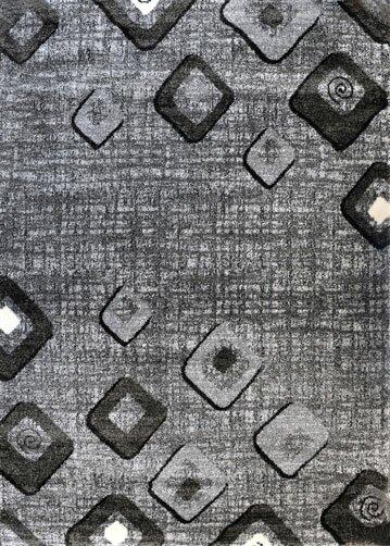 Grey/Black Area Rug by Rug Tycoon