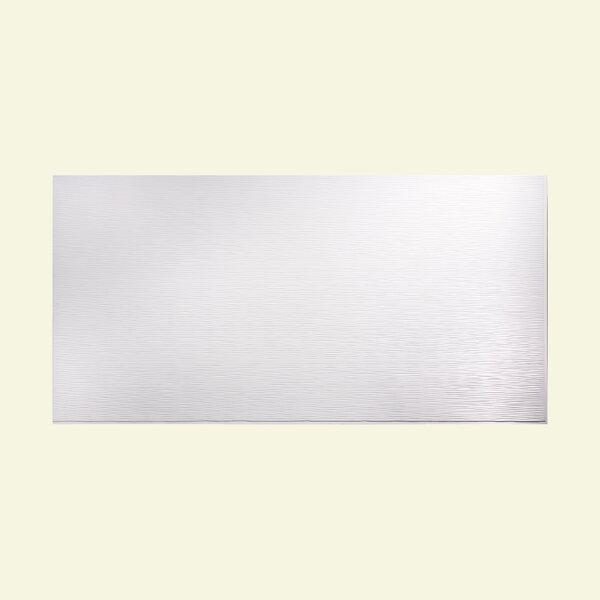 Ripple Horizontal 48 x 96 PVC Backsplash Panel in Gloss White by Fasade