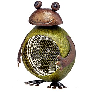 Cramer Frog Figurine Heater Table Fan by Red Barrel Studio