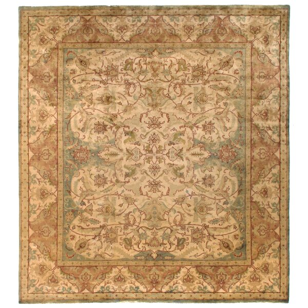 Polonaise Hand Knotted Wool Ivory/Beige Area Rug by Exquisite Rugs