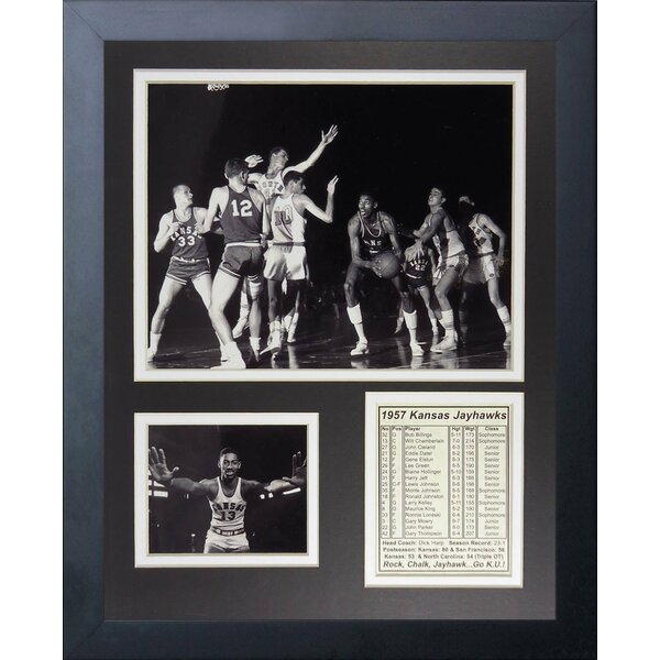 1957 Kansas Jayhawks Framed Memorabilia by Legends Never Die