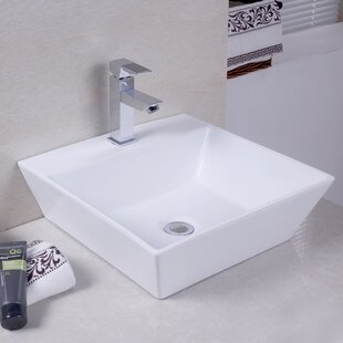 Bargain Ceramic Square Vessel Bathroom Sink ByAmerican Imaginations