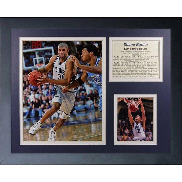 Shane Battier - Duke Framed Memorabilia by Legends Never Die