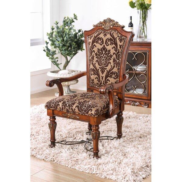 Astoria Grand Enprise Upholstered Queen Anne Back Arm Chair In Light Brown Wayfair