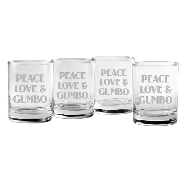 Gumbo Rocks Glass (Set of 4) by Susquehanna Glass