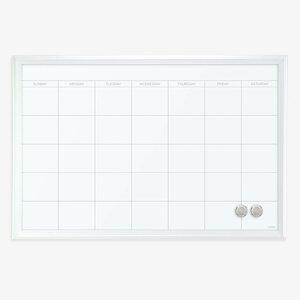 Magnetic Calendar Wood Frame Dry Erase Board