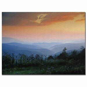 Sunrise on the Mountain by Lois Bryan Framed Painting Print on Wrapped Canvas by Trademark Fine Art