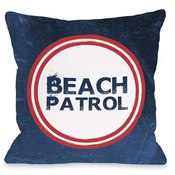 Beach Patrol Throw Pillow by One Bella Casa