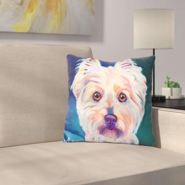 Westie Rockette Throw Pillow by East Urban Home