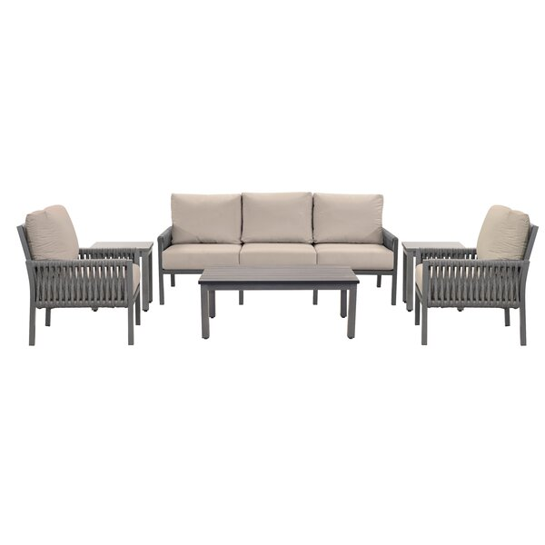 Chipps 6 Piece Sunbrella Seating Group with Cushions
