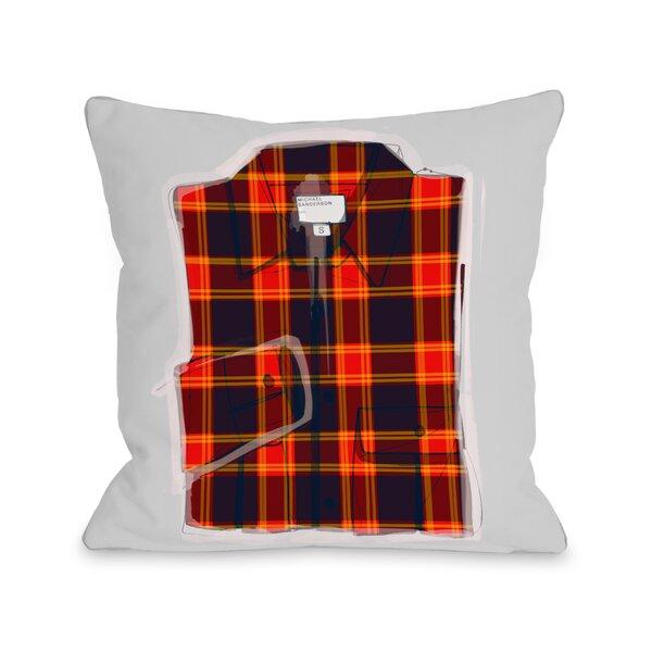 Plaid Shirt Throw Pillow by One Bella Casa