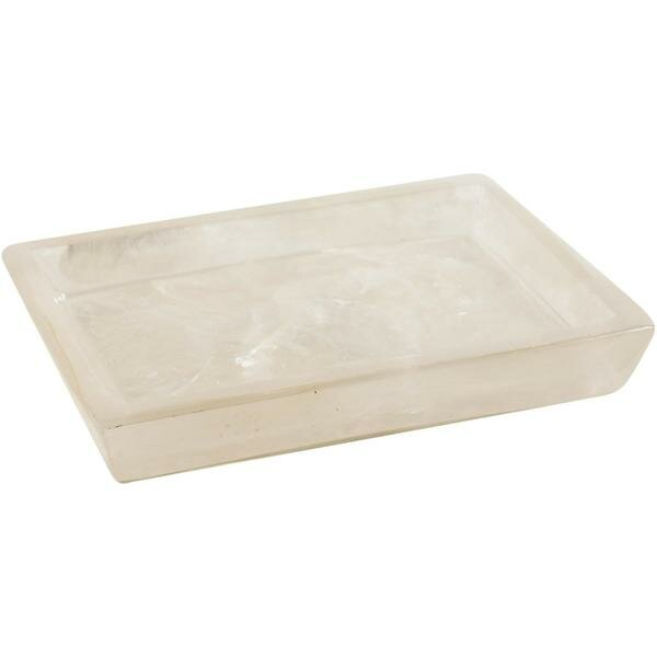 Jaworski Mother of Pearl Resin Soap Dish by Highland Dunes