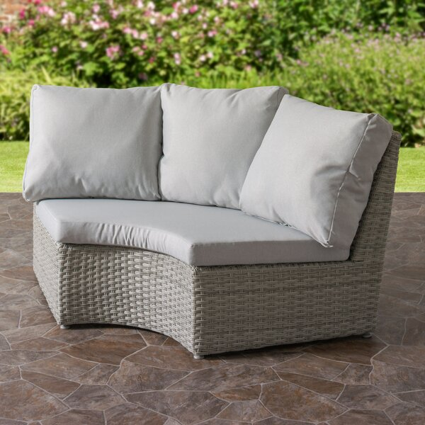 Killingworth Weather Resistant Resin Wicker Patio Corner Chair with Cushions by Rosecliff Heights