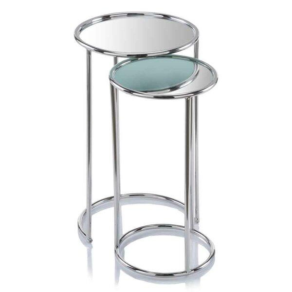 Flavia Mirror 2 Piece Nesting Tables By Orren Ellis