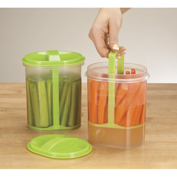 Veggie Holder 2 Container Food Storage Set by Miles Kimball
