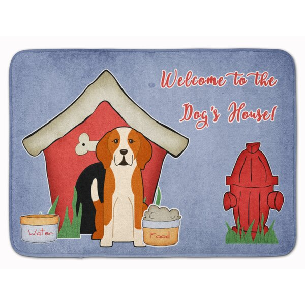 Dog House English Foxhound Memory Foam Bath Rug by East Urban Home