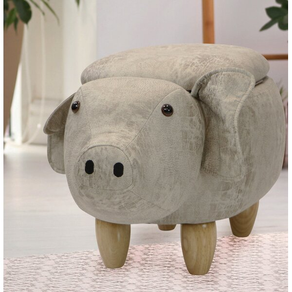 Critter Sitters Pig Storage Ottoman By Zoomie Kids
