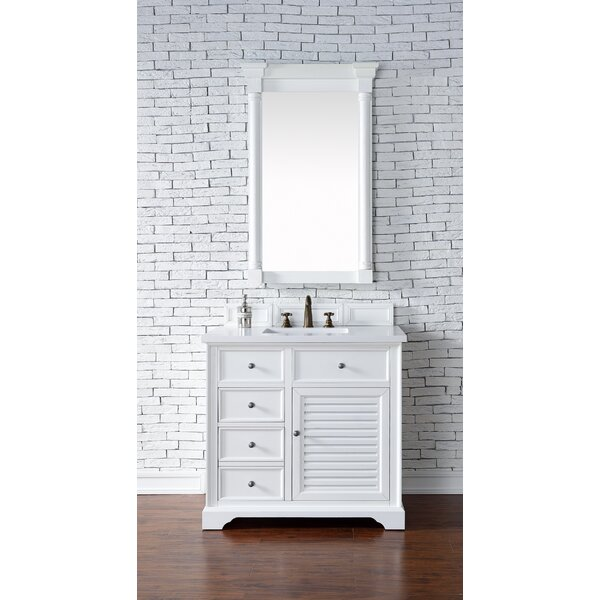 Osmond 36 Single Rectangular Sink Cottage White Bathroom Vanity Set by Greyleigh