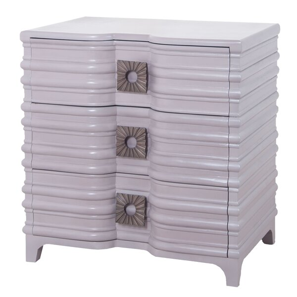 Ina 3 Drawer Chest by Bungalow Rose