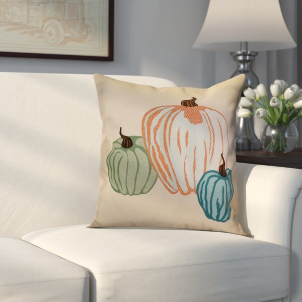 Miller Pumpkin Spice Geometric Outdoor Throw Pillow by Alcott Hill