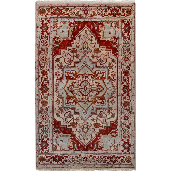 One-of-a-Kind Doerr Hand-Knotted Wool Cream/Dark Copper Area Rug by Isabelline