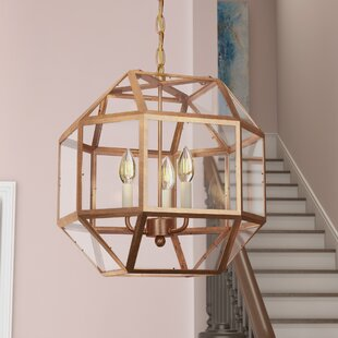 Affordable Burkeville 3-Light Geometric Chandelier By Ivy Bronx