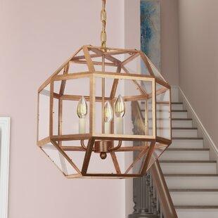 Order Burkeville 3-Light Geometric Chandelier By Ivy Bronx
