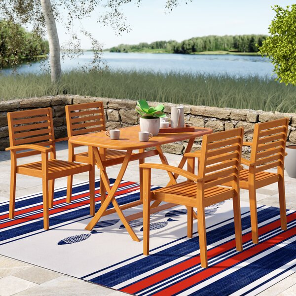 Sabbattus Seva 5 Piece Dining Set by Breakwater Bay