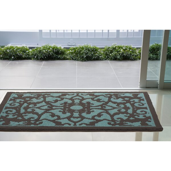 Aren Blue/Dark Gray Area Rug by House of Hampton