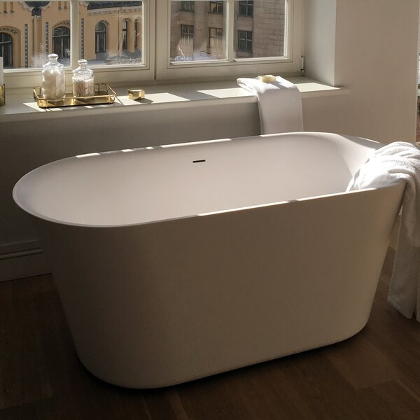 Tulip-Grande-Wht™ 71x 31.75 Freestanding Soaking Bathtub by Aquatica