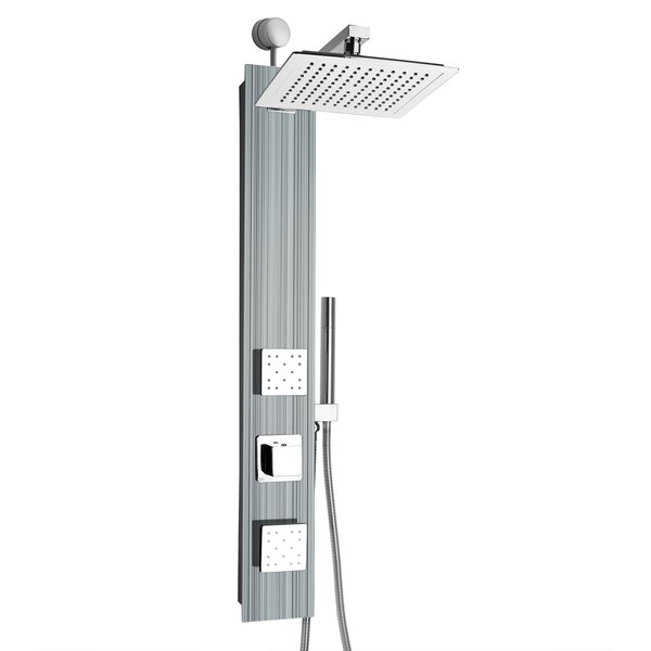Rainfall Volume Control Adjustable Head Shower Panel by AKDY