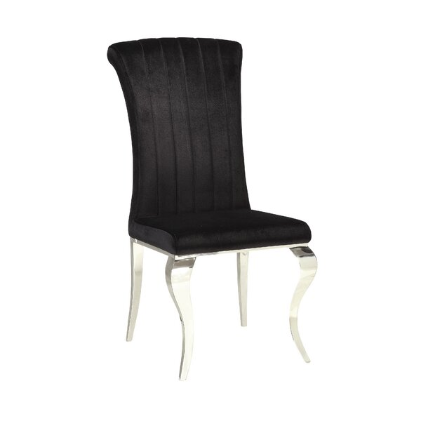 Geraldina Metal Upholstered Side Chair (Set of 4) by Willa Arlo Interiors