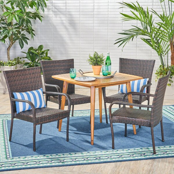 Islamorada 5 Piece Dining Set by Bay Isle Home