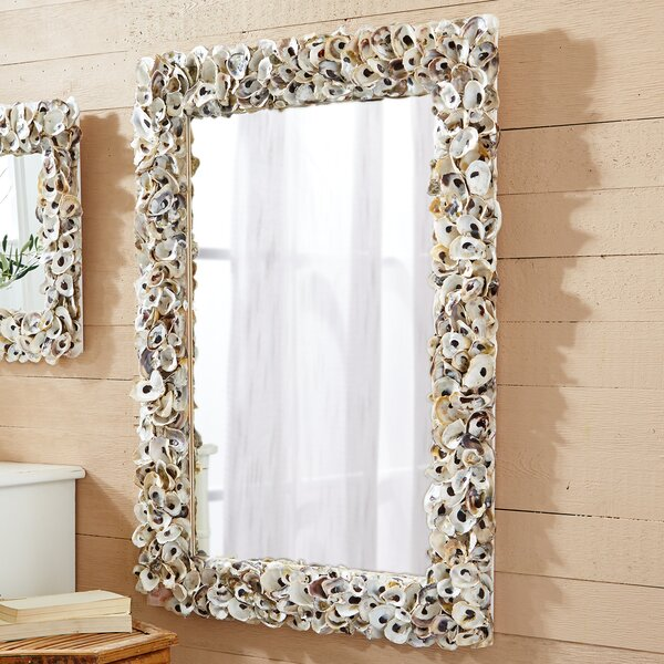 Rectangle Shell Wall Mirror by Rosecliff Heights