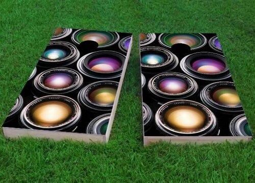 Camera Lenses Cornhole Game (Set of 2) by Custom Cornhole Boards