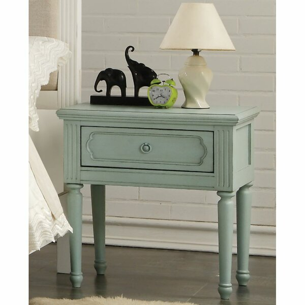 Biggins 1 - Drawer Nightstand In Antique Teal By Alcott Hill